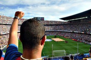 サッカーの会場画像