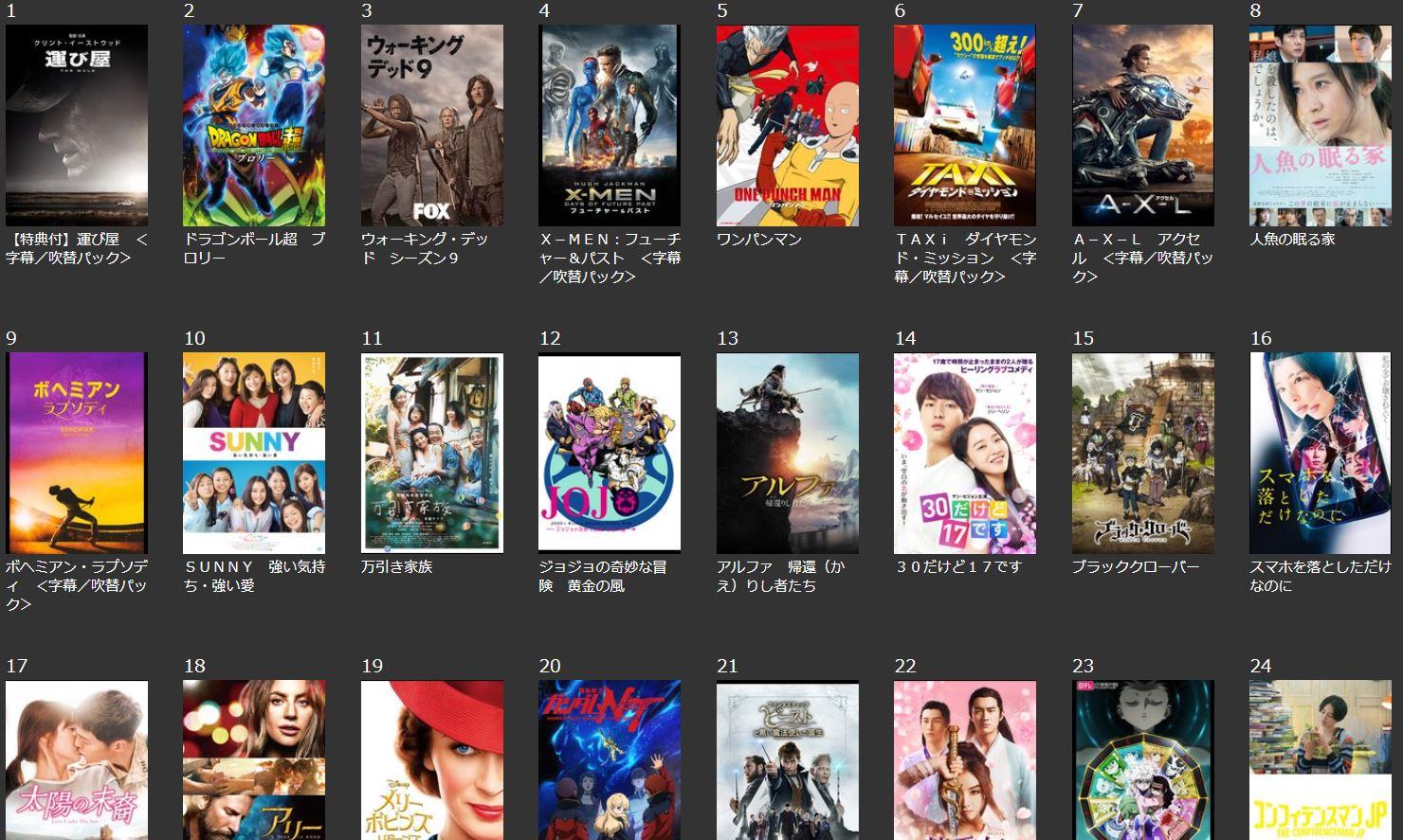 TSUTAYA TVで実質無料見放題動画を見る