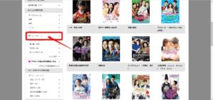 TSUTAYAサイトのアジアドラマ一覧